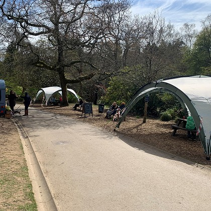 Gazebos in Clyne Gardens